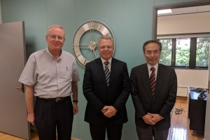 KU EVP, Prof. Inoue, visits Illinois and meets with Provost Cangellaris